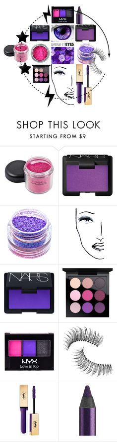"""Bright Eyes!"" by ladybug71181 ❤ liked on Polyvore featuring beauty, NARS Cosmetics, Medusa's Makeup, MAC Cosmetics, NYX, Trish McEvoy, Urban Decay and brighteyes"