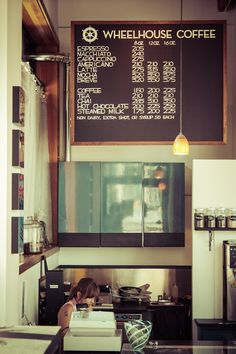 """LOVE THE SIMPLICITY OF THE MENU, ESPECIALLY COMBINING THE """"EXTRAS"""" ALL FOR 50 CENTS EACH.Wheelhouse Coffee is one of my favorite #coffee shops in Seattle. Love it!"""