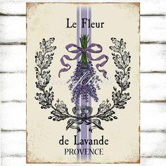 French Vintage Lavender Plaque A4 Instant Digital by CreatifBelle