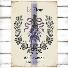 French Vintage Lavender Plaque A4 Instant Digital by CreatifBelle
