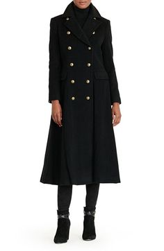 Free shipping and returns on Lauren Ralph Lauren Double Breasted Military Maxi Coat at Nordstrom.com. A touch of cashmere softens an elegant woolen coat tailored with a flared, elongated silhouette. Sharp lapels and a double-breasted closure dotted with golden crown-embossed buttons accentuate the military inspiration.