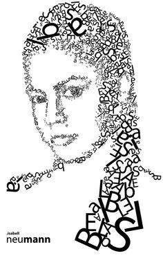 22 Amazing Typographic Portraits. http://webylife.com/inspiration/22-amazing-typographic-portraits/