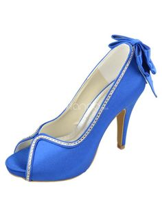 Wedding Shoes & Bridal Shoes- Shop the Latest Styles - page 5 Color Azul Real, Black Flatform Sandals, Heeled Sandals, Bleu Royal, Royal Blue, Colorful Wedding Shoes, Frauen In High Heels, Occasion Shoes, Bridal Sandals
