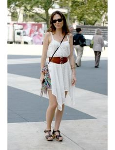 Gabriela Rosales, life coach:   What are you wearing? Pink Closet dress, vintage belt and bag and Zara shoes.