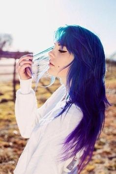 purple/blue/green hair