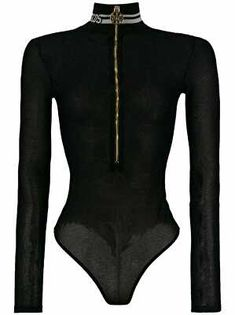 Black lurex zip body from gcds featuring long sleeves, a fitted silhouette, a fine knit, a high neck and a hook fastening. Cute Summer Outfits, Fall Outfits, Cute Outfits, Polyvore Dress, Polyvore Outfits, Fashion 2017, Fashion Outfits, Womens Fashion, Fashion Ideas