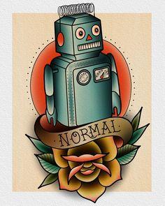 "89 Likes, 5 Comments - Darin Blank (@darinblanktattoos) on Instagram: ""Be ""normal"" like everyone else. """