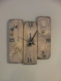 Refined Pallets Clock Stained And Waxed – Pallets Ideas, Designs, DIY. (shared via SlingPic)