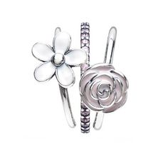 Pandora Elegant Bouquet Ring Stack | www.goldcasters.com
