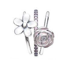 Pandora Elegant Bouquet Ring Stack   www.goldcasters.com