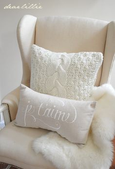 Love the sweater pillow!
