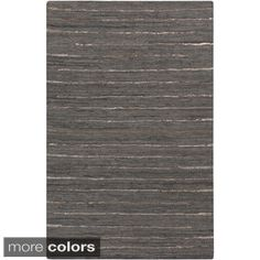 Shop for Hand-Woven Chard Stripe Leather Rug (8' x 10'). Get free shipping at Overstock.com - Your Online Home Decor Outlet Store! Get 5% in rewards with Club O!
