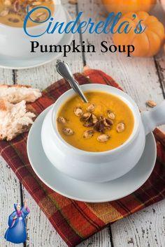 The Disney Gourmet Series - Cinderella's Pumpkin Soup | http://www.oliviascuisine.com #Disney #pumpkin #soup #Fall