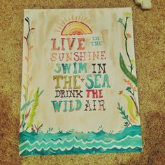 Ralph Waldo Emerson quote on canvas