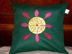 Grün Couch Kissen Abdeckung Reißverschlusssystem von PaperArcsArt auf DaWanda.com