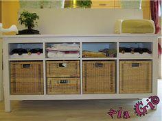 Buffet with Wine Rack: Ikea Hack
