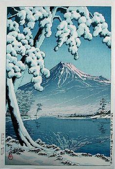 """""""Mt. Fuji After Snow at Tago Bay"""" by Kawase"""