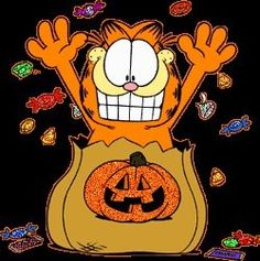 "Garfield Halloween ""Candy Candy Candy Candy"""
