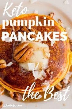 Keto Pumpkin Pancakes Recipe - This pumpkin season you have to try these keto pu. - Keto Pumpkin Pancakes Recipe – This pumpkin season you have to try these keto pumpkin pancakes! Keto Friendly Desserts, Low Carb Desserts, Low Carb Recipes, Pumpkin Recipes Kid Friendly, Low Carb Pancakes, Low Carb Breakfast, Paleo Pumpkin Pancakes, Mexican Breakfast, Keto Foods
