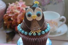 Cupcakes Take The Cake Owl Cupcakes, Cute Cupcakes, Cupcake Cookies, Churros, Yummy Treats, Sweet Treats, Mousse, Creative Cakes, Unique Cakes