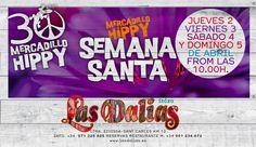 Esta Semana Santa abrimos el mercadillo de jueves a domingo, de 10 a 19hs.  ¡Pásate a vernos y disfruta comprando! #30yearsLasDaliasHippyMarket #feelLasDalias2015 #Ibiza2015