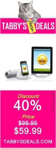 iHealth Blood Pressure Monitoring System for iPod Touch, iPhone, and iPad $59.99