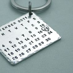 Hey, I found this really awesome Etsy listing at http://www.etsy.com/listing/104625756/mark-the-date-aluminum-calendar-key-ring