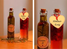 'Pays des Merveilles♥: DIY-Geschenkidee #VI: Kräuter-Öl und Himbeer-Essig