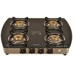 Pigeon Elegance Blackline Glass Cook Top - 4 Burner (Oval) for Holi offer sale online in India.