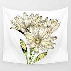 Daisy Wall Tapestry by Salome | Society6