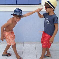 Twins love ❤️ #mytwins #twins #twining #instatwins #twinsmom #twinsofinsta #myboys #summer2015 #kids #mytwinscollection #twinslove #love #boys #kidsfashion #beachwear