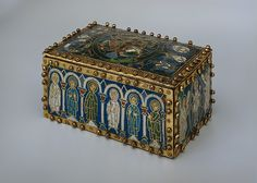 Portable Altar Date: early 12th century Culture: North German Medium: Copper with gilding and champlevé enamels, mounted on a modern copper casket MET