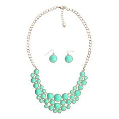 Vera Necklace Set Turquoise, $40, now featured on Fab.