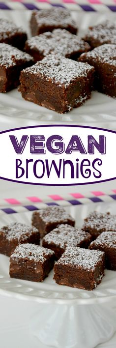 Vegan Brownies - this easy brownie recipe is dairy-free and egg-free, making them accidentally vegan! They are super fudgy and the perfect brownies!
