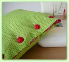 Button Cushion Cover Sewing Pattern by LillyBlossom on Etsy
