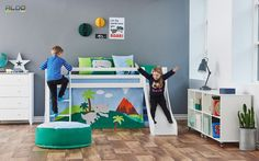 Dětský pokoj pro kluky s motivem dinousarů Toddler Bed, Kids Rugs, Furniture, Design, Home Decor, Kids Rooms, Child Room, Child Bed, Decoration Home