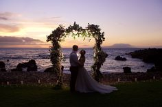 Seaside Sunset Bliss Wedding Newlyweds - Anna Kim Photography