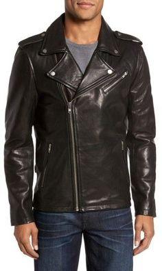 Men's Lamarque Leather Biker Jacket
