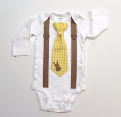 Baby Boy Easter Outfit. Gingham Bunny Spring by CuddleSleepDream, $25.00