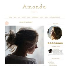 Blogger Template  Amanda  Blogger Theme  Instant by CWebsBiz