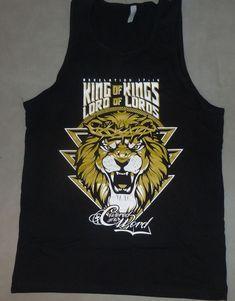 180969dcd3abf Mens Christian Tank Top King of kings on black Tank Top Shirt