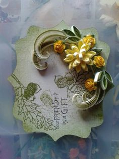 Quilling greeting