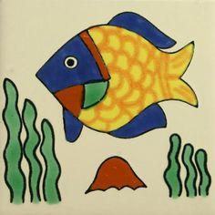 Especial Decorative Ceramic Mexican Tile - fish