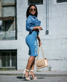 Dolly Castro fits that Dolly Castro, Denim Outfit For Women, Clothes For Women, Kim Kardashian, Estilo Jeans, Jumpsuit Dress, Denim Fashion, Dress Fashion, Her Style