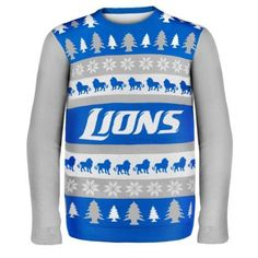Detroit Lions Wordmark Style Ugly Sweater