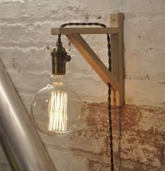 Wandkerzenhalter Antike Messing Birke Holz Industrielle Retro Vintage Solide Lampe Source by . Plug In Wall Lights, Plug In Wall Lamp, Hanging Lights, Rustic Lamps, Wood Lamps, Rustic Lighting, Industrial Lighting, Farmhouse Lighting, Vintage Lighting