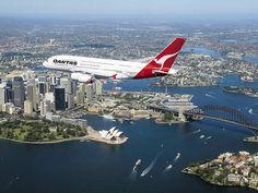 A380 over Sydney Harbour by KMJPhotography (TillyDog), via Flickr