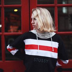 An ultra lightweight hoodie that features an allover rugby stripe design accented with a Stussy text graphic at the front