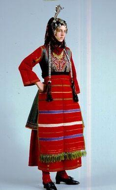 Folk Costume, Costumes, Macedonia, Historical Clothing, Fashion Shoes, Greece, Culture, Wedding Dresses, People