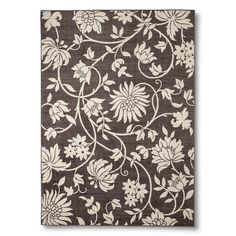 Maples Rugs Floral Area Rug - Brown